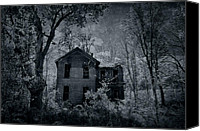 Haunted House Photo Canvas Prints - Enter Canvas Print by Emily Stauring