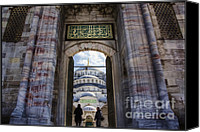 Byzantine Photo Canvas Prints - Enter Canvas Print by Joan Carroll