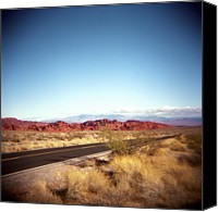 Valley Of Fire Canvas Prints - Entering The Valley Of Fire Canvas Print by Lori Andrews