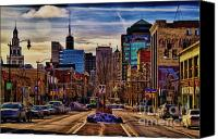 Buildings Canvas Prints - Entertainment Canvas Print by Chuck Alaimo
