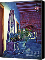 Spanish Style Canvas Prints - Entrance Elements Canvas Print by Gwyn Newcombe