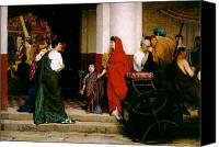 Alma-tadema; Sir Lawrence (1836-1912) Canvas Prints - Entrance to a Roman Theatre Canvas Print by Sir Lawrence Alma-Tadema