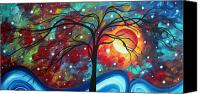 Abstract Canvas Prints - Envision the Beauty by MADART Canvas Print by Megan Duncanson