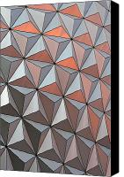 Flower Design Canvas Prints - Epcot Pattern Canvas Print by Linda Phelps