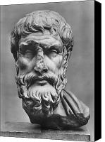3rd Canvas Prints - Epicurus (342?-270 B.c.) Canvas Print by Granger