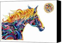 Abstract Equine Canvas Prints - Equine and More Canvas Print by Bob Coonts