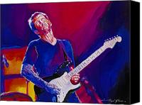 Singer Painting Canvas Prints - Eric Clapton - Crossroads Canvas Print by David Lloyd Glover