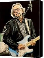 Clapton Canvas Prints - Eric Clapton Canvas Print by Chris Benice
