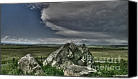 Alberta Landscape Canvas Prints - Erratic Storm Canvas Print by Greggory Poitras