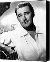 Publicity Shot Canvas Prints - Errol Flynn, Warner Brothers, 1940s Canvas Print by Everett