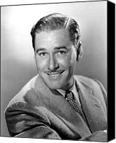 Publicity Shot Canvas Prints - Errol Flynn, Warner Brothers, 6144 Canvas Print by Everett