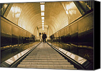 Photorealism Canvas Prints - Escalator Canvas Print by Max Ferguson