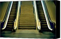 Creepy Canvas Prints - Escalators And Stairs Canvas Print by Joana Kruse