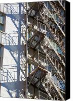Fire Escape Photo Canvas Prints - Escape Canvas Print by Chris Dutton