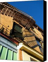 Fire Escape Photo Canvas Prints - Escape Canvas Print by Colleen Kammerer