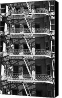 Fire Escape Photo Canvas Prints - Escape Route Canvas Print by David Cordner