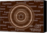 Color Mixed Media Canvas Prints - Espresso Canvas Print by Frank Tschakert