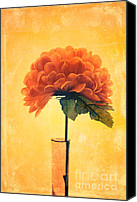 Textured Floral Canvas Prints - Estillo - 01i2t03 Canvas Print by Variance Collections