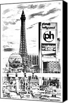 Etch Canvas Prints - Etched Vegas Canvas Print by Ricky Barnard