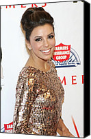 Updo Canvas Prints - Eva Longoria In Attendance For Padres Canvas Print by Everett