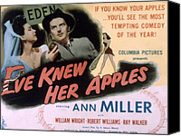 Posth Canvas Prints - Eve Knew Her Apples, Ann Miller Canvas Print by Everett