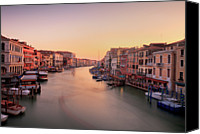 Venice Canvas Prints - Evening Glow Canvas Print by John and Tina Reid