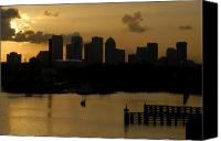Tampa Bay Florida Canvas Prints - Evening in Tampa Canvas Print by David Lee Thompson