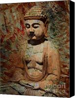 Buddha Art Canvas Prints - Evening Meditation Canvas Print by Christopher Beikmann