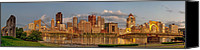 City Of Bridges Photo Canvas Prints - Evening Panorama Canvas Print by Jennifer Grover