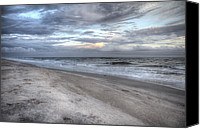 Topsail Island Canvas Prints - Evening Paradise Canvas Print by East Coast Barrier Islands Betsy A Cutler