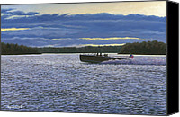 St Lawrence River Canvas Prints - Evening Run Canvas Print by Richard De Wolfe