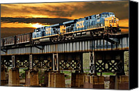Csx Canvas Prints - Evening Run Canvas Print by Tim Wilson