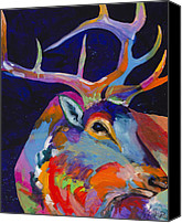 Elk Canvas Prints - Evening Sounds Canvas Print by Tracy Miller