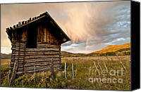 Fences Canvas Prints - Evening Storm Canvas Print by Jeff Kolker