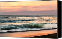 Atlantic Beaches Canvas Prints - Evening Surf Canvas Print by Bill  Wakeley