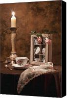Tea Canvas Prints - Evening Tea Still Life Canvas Print by Tom Mc Nemar