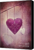 Hearts Photo Canvas Prints - Ever And Anon Canvas Print by Priska Wettstein