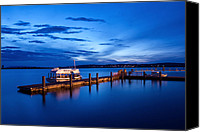Puget Sound Canvas Prints - Everett Waterfront Canvas Print by Tanya Harrison