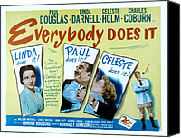 Holm Canvas Prints - Everybody Does It, Linda Darnell, Paul Canvas Print by Everett