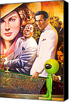 Casablanca Canvas Prints - Everybody Really Does Go To Ricks Canvas Print by Richard Henne