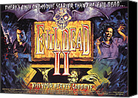Horror Fantasy Movies Canvas Prints - Evil Dead Ii, Left, Bruce Campbell Canvas Print by Everett