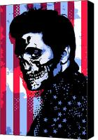 Zombie Digital Art Canvas Prints - Evil Elvis Canvas Print by Tom Deacon