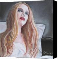Evil Pastels Canvas Prints - Evil woman Canvas Print by Antonios Theodosiou