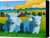 Sheep Canvas Prints - Ewe Two Canvas Print by Stacey Neumiller