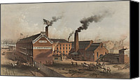 Ironworks Canvas Prints - Excelsior Iron Works On New York Citys Canvas Print by Everett
