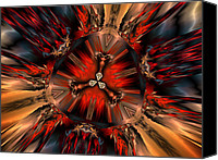 Generative Canvas Prints - Excitement in Red Canvas Print by Claude McCoy