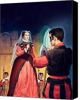 Scared Painting Canvas Prints - Execution of Mary Queen of Scots Canvas Print by English School