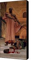 Decapitation Canvas Prints - Execution Without Trial under the Moorish Kings in Granada Canvas Print by Henri Alexandre Georges Regnault