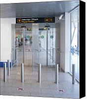 Airport Concourse Canvas Prints - Exit to a Baggage Claim Canvas Print by Jaak Nilson