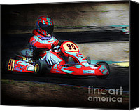 Arne J Hansen Canvas Prints - Exit Turn 5 Canvas Print by Arne Hansen